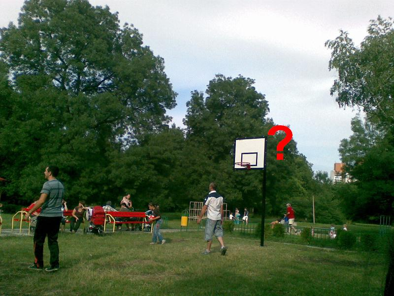 Интересен баскетболен кош