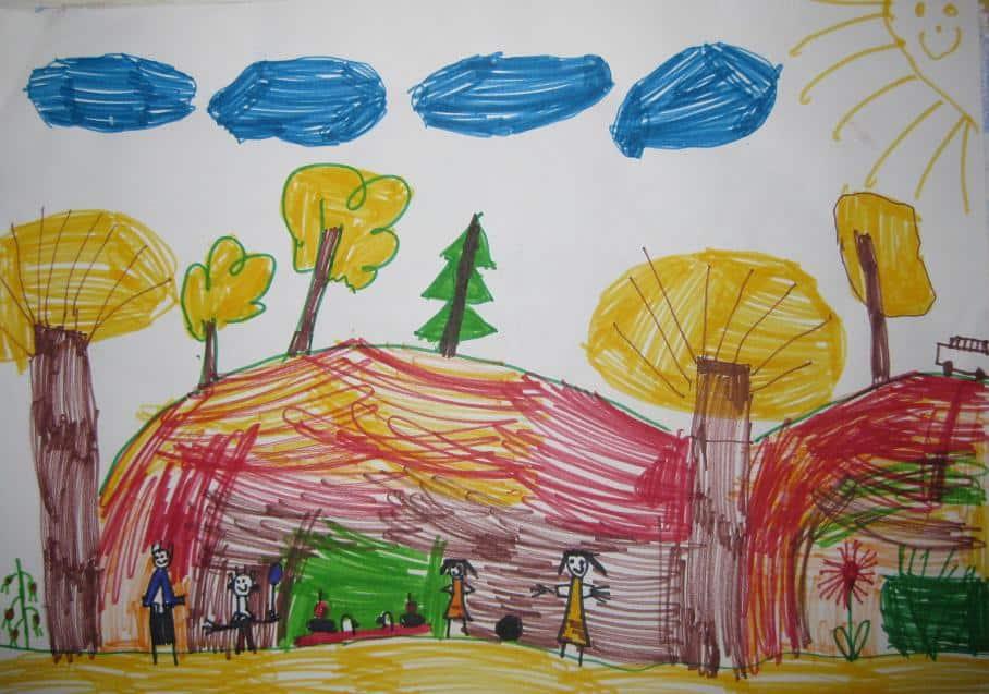 Детска рисунка - хора